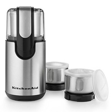 KitchenAid Blade Coffee & Spice Grinder w/ Additional Bowls & Lids - Onyx Black (BCG211OB)