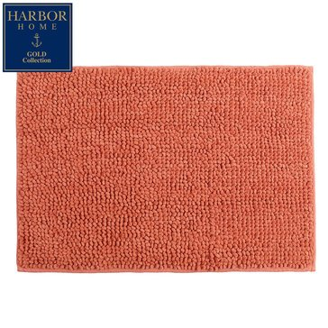 Harbor Home Gold Collection 17x24 Bath Rug, Coral