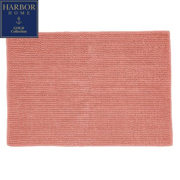 Harbor Home Gold Collection 20x32 Bath Rug, Coral