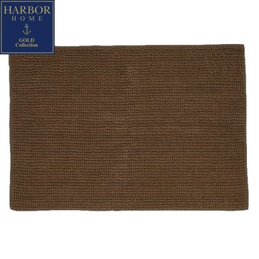 Harbor Home Gold Collection 20x32 Bath Rug, Espresso