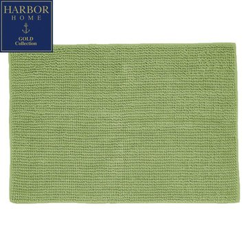 Harbor Home Gold Collection 20x32 Bath Rug, Tarragon