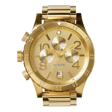 Nixon Unisex 48-20 All Gold Chrono Watch, 48mm