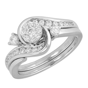 1/2 ct.tw. Diamond Ring Set, 10K