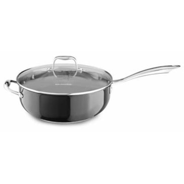 KitchenAid Stainless Steel 6-Quart Chef's Pan With Lid, Onxy Black