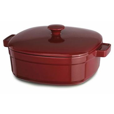KitchenAid 6-Quart Cast Iron Casserole, Empire Red