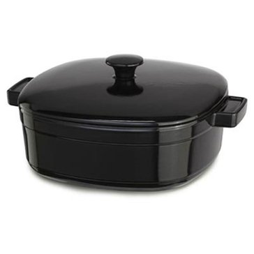 KitchenAid Black Onyx 6-Quart Cast Iron Casserole