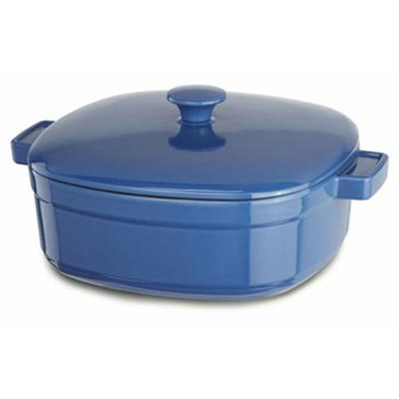 KitchenAid 6-Quart Cast Iron Casserole, Spring Blue