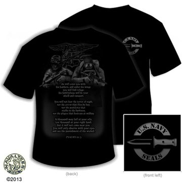 NavalTees Men's USN Psalms SEAL Tee
