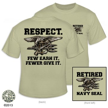 NavalTees Men's USN Retired SEAL Tee