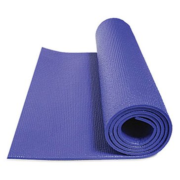 GoFit Double Thick Yoga Mat with Wall Chart- Sapphire Blue - 7Mm Thick.