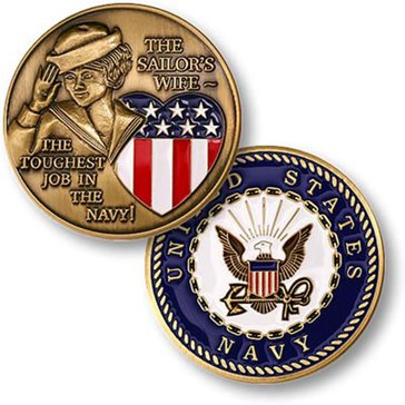 USN Sailor's Wife Coin
