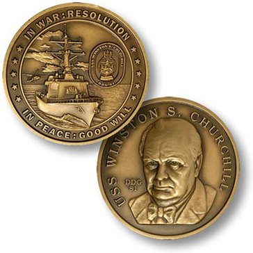 USN USS Winston Churchill Coin
