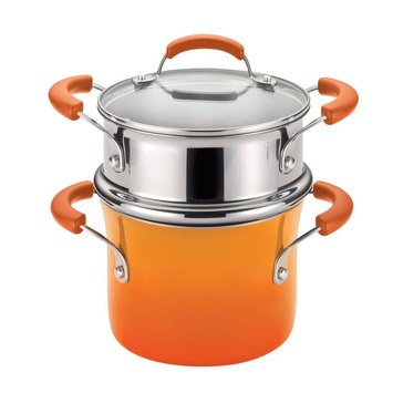Rachael Ray 3-Quart Mutlipot w/ Steamer, Orange