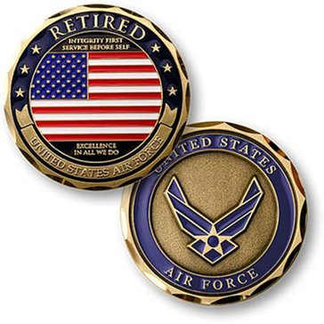Northwest Territorial Mint USAF Retired Coin