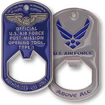 Northwest Territorial Mint USAF Air Crew Dog Tag Bottle Opener