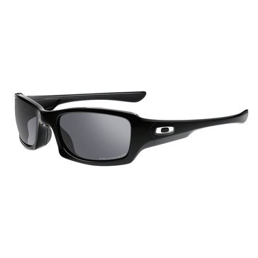 Oakley Men's Fives Squared Polarized Sunglasses, Polished Black