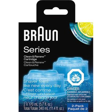 Braun Clean & Renew Refil Cartridges 2-Pack