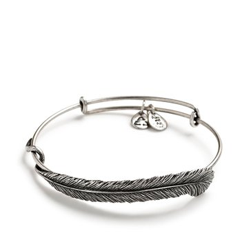 Alex and Ani Quill Feather Single Bangle