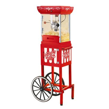 Nostalgia Popcorn Cart - 48 inch height, Red (CCP399)