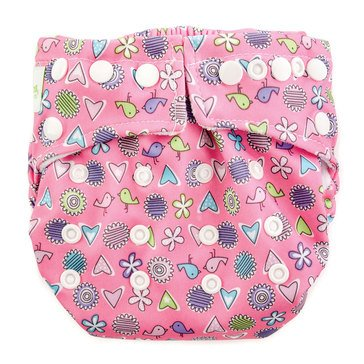 Bumkins Snap-In-One Cloth Diaper, Love Birds