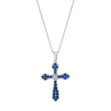 10K Sapphire and Diamond Cross