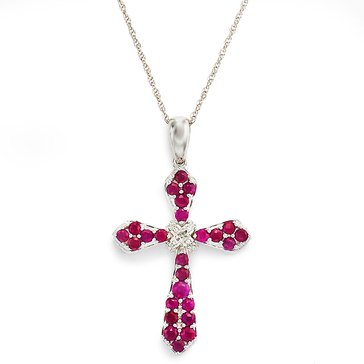 10K Ruby and Diamond Cross