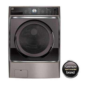 Kenmore Elite 5.2-Cu.Ft. Front-Load Washer, Metallic Silver (26-41073)
