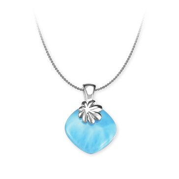 Marahlago Sterling Silver Larimar Abril Necklace