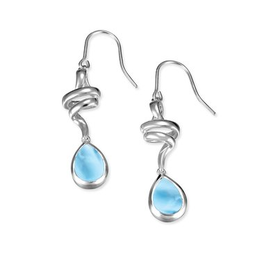 Marahlago Sterling Silver Larimar Hydra Earrings