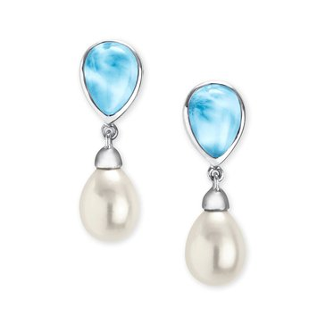 Marahlago Sterling Silver Larimar Alisa Earrings