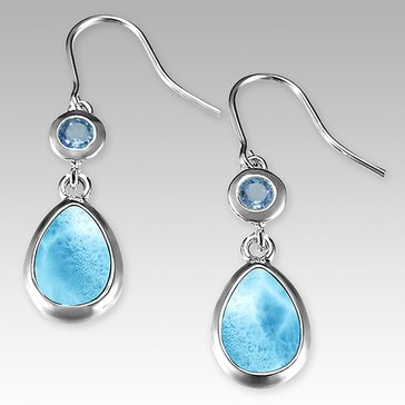 Marahlago Sterling Silver Larimar Atlantic Earrings