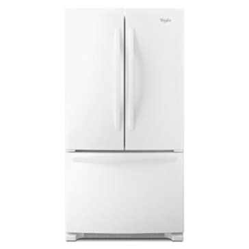 Whirlpool 24.8-Cu.Ft. French Door Refrigerator, White (WRF535SMBW)