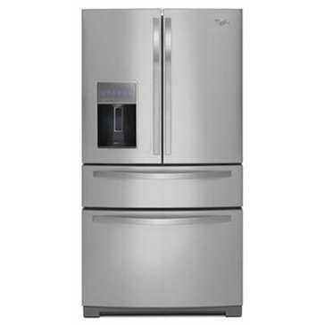 Whirlpool 26-Cu.Ft. 4-Door Refrigerator w/ More Flexible Storage, Stainless Steel (WRX988SIBM)