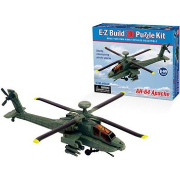 WOW TOYZ US ARMY AH64 APACHE HELICOPTER EZ 3D PUZZLE