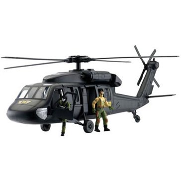 Wow Toyz Giant Black Hawk Helicopter Playset