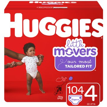 Huggies Little Movers - Size 4, Giant Pack 112-Count