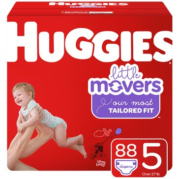 Huggies Little Movers - Size 5, Giant Pack 96-Count