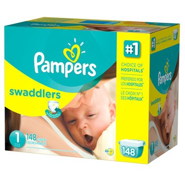 Pampers Swaddlers - Size 1, Giant Pack 148-Count