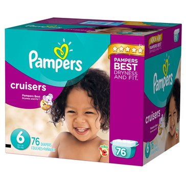 Pampers Cruisers Giant-Pack 72-Count Diapers, Size 6