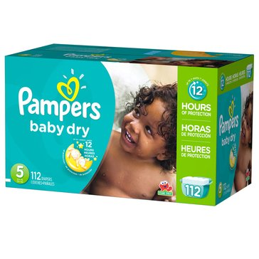 Pampers Baby Dry - Size 5, Giant Pack 112-Count