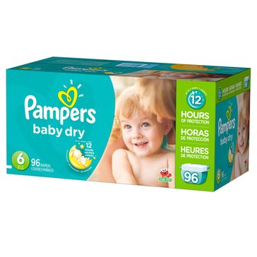Pampers Baby Dry - Size 6, Giant Pack 96-Count