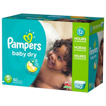 Pampers Baby Dry - Size 5, Economy Pack Plus Diapers 160-Count