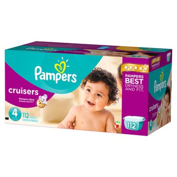 Pampers Cruisers - Size 4, Giant Pack 112-Count