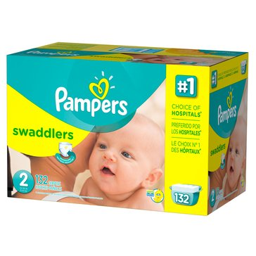 Pampers Swaddlers - Size 2, Giant Pack 132-Count