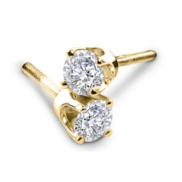 14K 1/2 cttw Solitaire Earrings