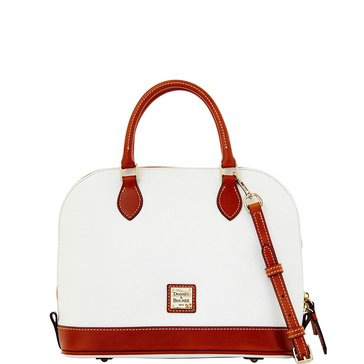 Dooney & Bourke Pebble Zip Satchel White