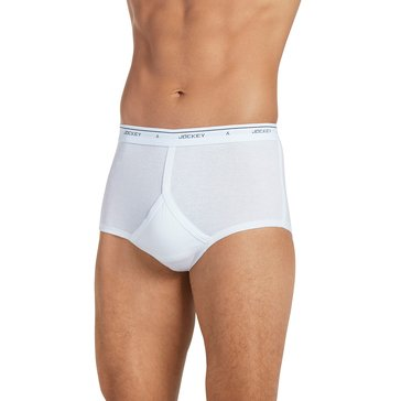 Jockey Men's Full-Rise Briefs 4-Pack - White