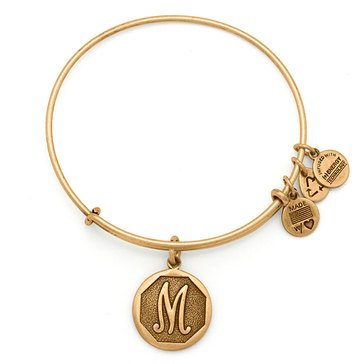 Alex and Ani Initial M Expandable Bangle, Gold Finish