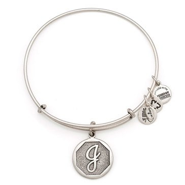 Alex and Ani Initial J Expandable Bangle, Silver Finish