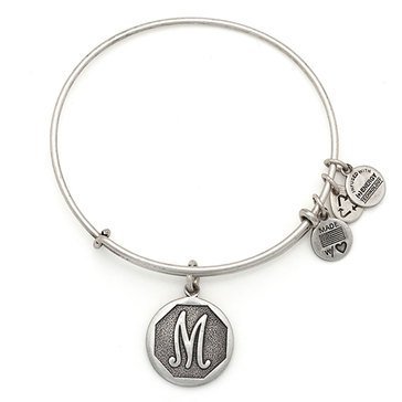 Alex and Ani Initial M Expandable Bangle, Silver Finish